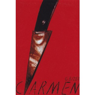 Carmen Georges Bizet Jędrzej Bobowski Polnische Opernplakate