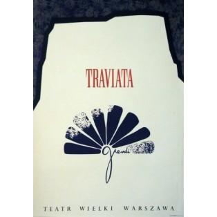 La Traviata Verdi Ivo Dubiecki Polnische Opernplakate