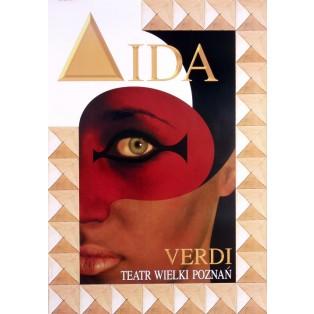 Aida Giuseppe Verdi Jean-Antoine Hierro Polnische Opernplakate