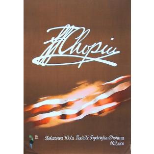 Żelazowa Wola - Chopins Geburtshaus Zdzisław Horodecki Polnische Musikplakate