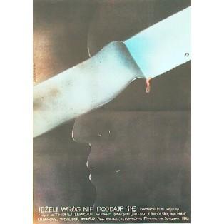 Wenn sich der Feind nicht ergibt Timofei Levchuk Teresa Jaskierny Polnische Filmplakate