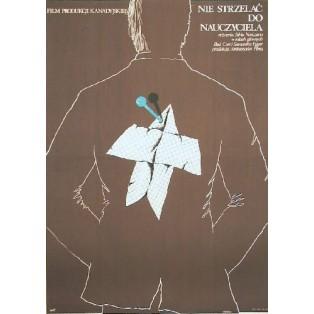 Man schießt nicht auf den Lehrer Silvio Narizzano Anna Mikke Polnische Filmplakate