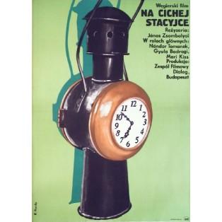 Nicht hinauslehnen Janos Zsombolyai Elżbieta Procka Polnische Filmplakate