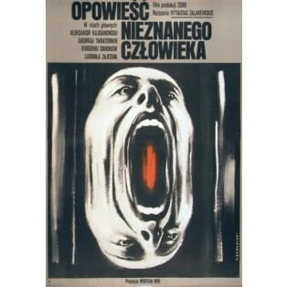 Erzählungen eines Unbekannten Vytautas Zalakevicius Krzysztof Bednarski Polnische Filmplakate