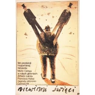 Heiligen Narren Mario Camus Jaime Carlos Nieto Polnische Filmplakate
