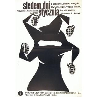 Sieben Tage im Januar Juan Antonio Bardem Jaime Carlos Nieto Polnische Filmplakate