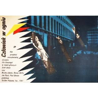 Man on Fire Elie Chouraqui Andrzej Nowaczyk Polnische Filmplakate
