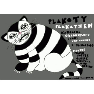 PlaKatzen Karolina Gładkiewicz Polnische Ausstellungsplakate