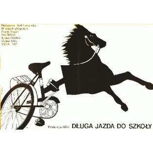 Lange Ritt zur Schule Rolf Losansky Elżbieta Procka Polnische Filmplakate