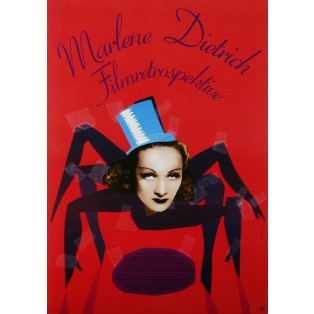 Marlene Dietrich Filmretrospektive Elżbieta Chojna Polnische Plakate