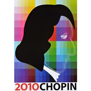 Chopin 2010 Zbigniew Latała Polnische Musikplakate