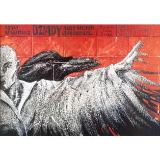Totenfeier Bolesław Polnar Polnische Theaterplakate