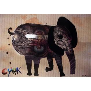 Zirkus Elefant Kaja Renkas Polnische Zirkusplakate
