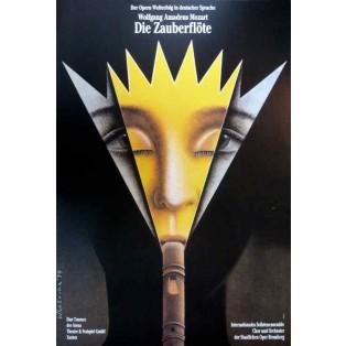 Zauberflöte Wiesław Rosocha Polnische Opernplakate