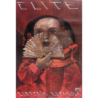 Elite - Spanischer Buchladen Wiktor Sadowski Polnische Plakate