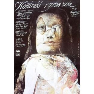 Kontrakt des Zeichners Peter Greenaway Wiktor Sadowski Polnische Filmplakate