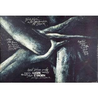 Die Menschen vom Sumpf, Viktor Turov Wiktor Sadowski Polnische Filmplakate