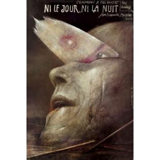 Ni le jour, ni la nuit Wiktor Sadowski Polnische Theaterplakate
