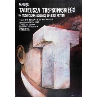 In Memoriam Tadeusz Trepkowski Wiktor Sadowski Polnische Ausstellungsplakate