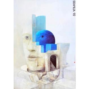 Sewilla 92 Wiktor Sadowski Polnische Ausstellungsplakate