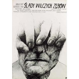 Untergang des Weilers Berhof  Wiktor Sadowski Polnische Filmplakate