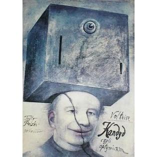 Candide oder der Optimismus Voltaire Wiktor Sadowski Polnische Theaterplakate