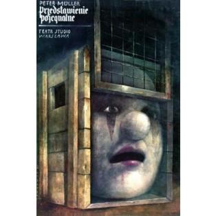 Abschiedsvorstellung Peter M Wiktor Sadowski Polnische Theaterplakate