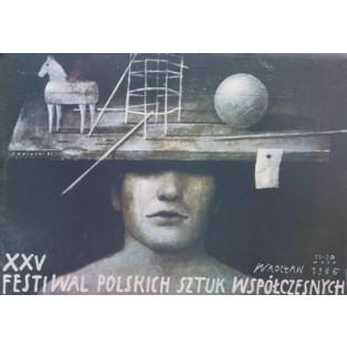 Festival des polnischen Gegenwartstheaters Wiktor Sadowski Polnische Ausstellungsplakate