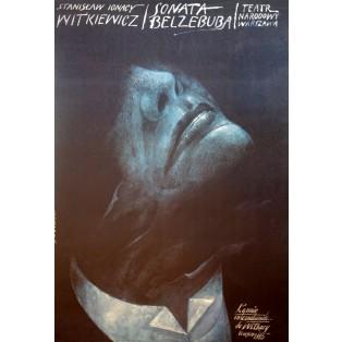 Belzebub Sonata Stanis?aw Ignacy Witkiewicz Wiktor Sadowski Polnische Theaterplakate