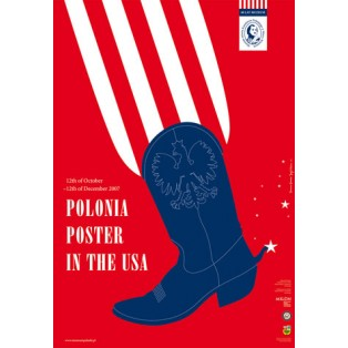 Polonia poster in USA Joanna Górska Jerzy Skakun Polnische Ausstellungsplakate