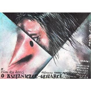 Geschichte von der Gänseprinzessin und ihrem treuen Pferd Falada Romuald Socha Polnische Filmplakate