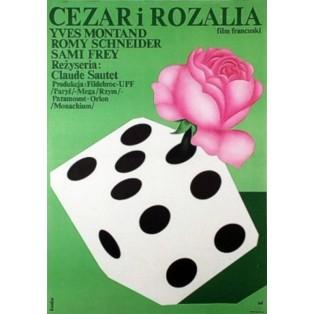 Cesar und Rosalie Romuald Socha Polnische Filmplakate