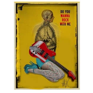 Do you wanna rock with me Jacek Staniszewski Polnische Musikplakate