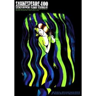 Shakespeare 400 Monika Starowicz Polnische Theaterplakate