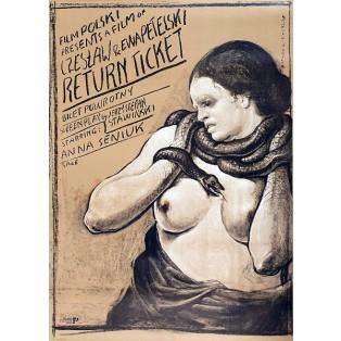 Rückfahrkarte Ewa, Czesław Petelski Franciszek Starowieyski Polnische Filmplakate