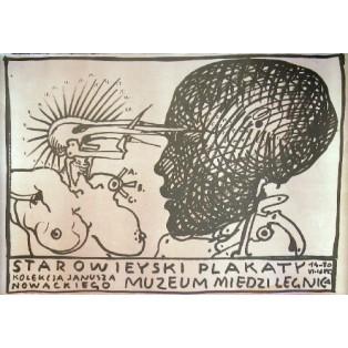 Starowieyski - Poster, Muzeum Miedzi  Franciszek Starowieyski Polnische Ausstellungsplakate