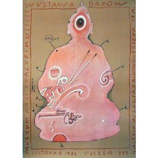 Gaben für das Muzeum Azji i Pacyfiku Franciszek Starowieyski Polnische Ausstellungsplakate