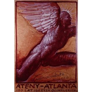 Athen Atlanta 100 Jahre der Olympischen Spiele  Franciszek Starowieyski Polnische Ausstellungsplakate