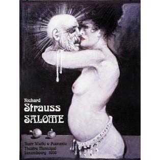 Salome  Franciszek Starowieyski Polnische Opernplakate