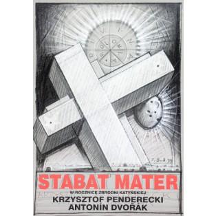 Stabat Mater  Franciszek Starowieyski Polnische Musikplakate