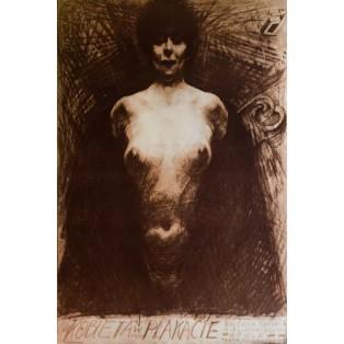 Frau im Plakat Franciszek Starowieyski Polnische Ausstellungsplakate