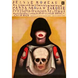 Braut trug schwarz François Truffaut Franciszek Starowieyski Polnische Filmplakate