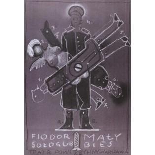 Kleine Dämon Franciszek Starowieyski Polnische Theaterplakate