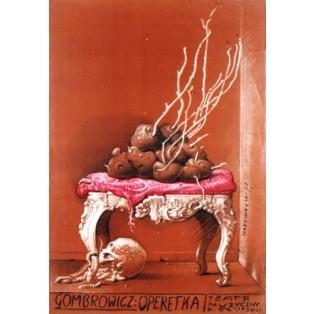 Operette Gombrowicz  Franciszek Starowieyski Polnische Theaterplakate