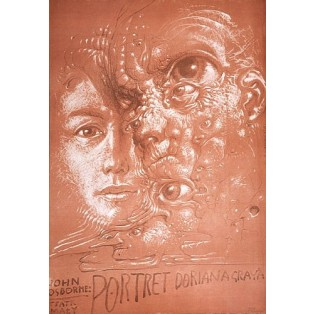 Bildnis des Dorian Gray  Franciszek Starowieyski Polnische Theaterplakate