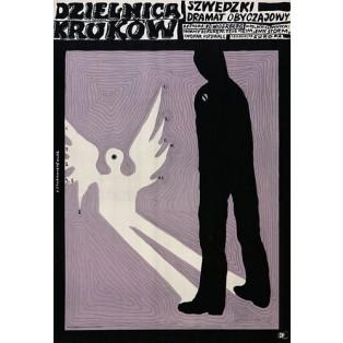 Rabenvierte Bo Widerberg Franciszek Starowieyski Polnische Filmplakate