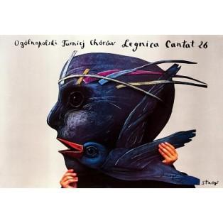 Legnica Cantat 26 Stasys Eidrigevicius Polnische Musikplakate