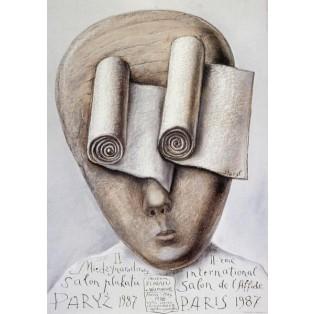 Internationaler Plakatsalon Paris 1987 Stasys Eidrigevicius Polnische Ausstellungsplakate