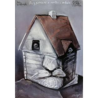 Geschichte über Traurigkeit und Freude Stasys Eidrigevicius Polnische Theaterplakate