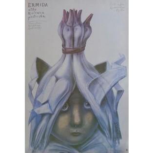 Ermida oder die Hirtenprinzessin Stasys Eidrigevicius Polnische Theaterplakate